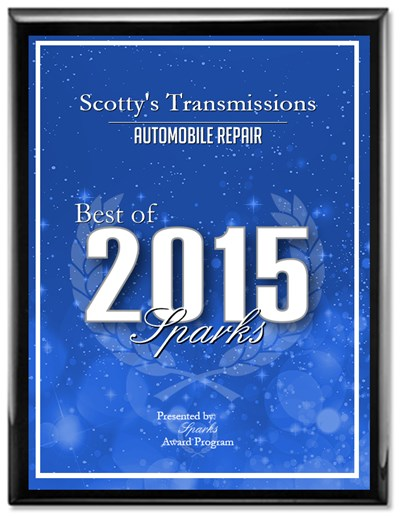 Best of Sparks 2015 Award | Scotty's Transmission & RPM Automotive